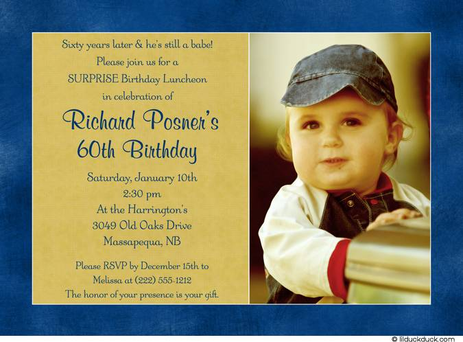 Surprise 60th Birthday Party Invitation Wording Funny