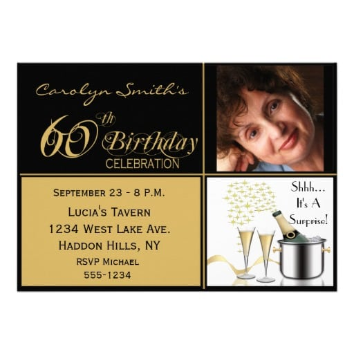 Surprise 60th Birthday Party Invitations Uk