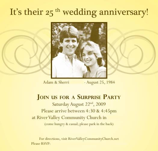 Surprise Anniversary Party Invitation Ideas