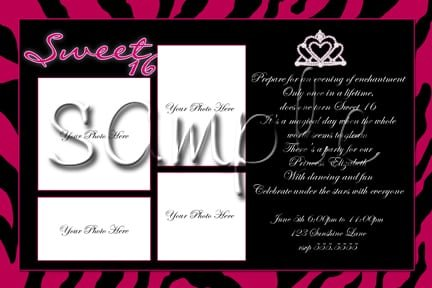 Sweet 16 Birthday Party Invitation Template
