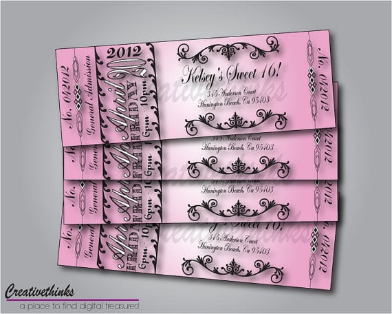 Sweet 16 Free Printable Invitations