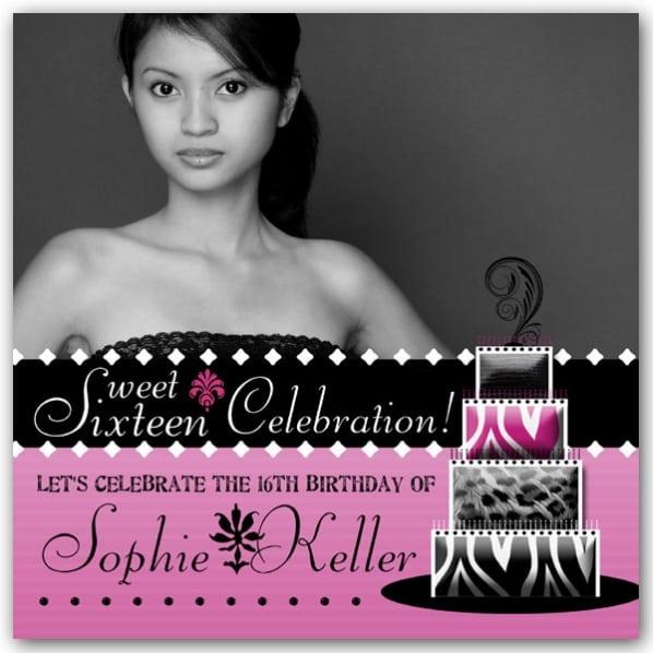 Sweet 16 Invites
