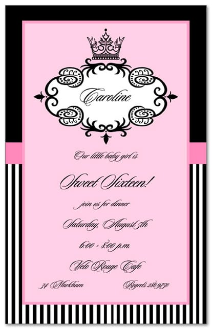 Sweetpartyinvitationstemplatesjpg - Sweet 16 party invitations templates