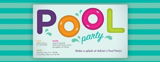blank pool party invitations Intoanysearchco