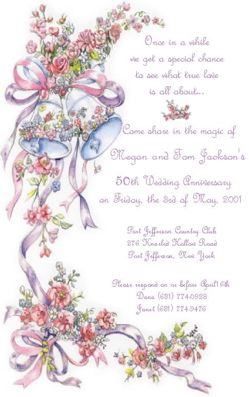 Tag25th Wedding Anniversary Invitation Templates Free Downloads