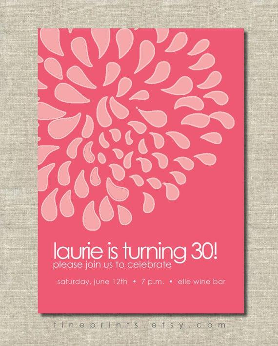 Tag40th Birthday Wallpaper Invite