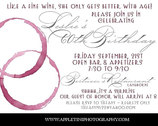 Tag60th Birthday Party Invitation Ideas