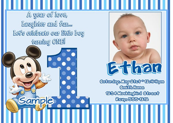Tagbaby Mickey Birthday Invitation Template
