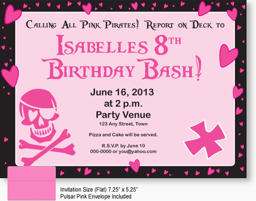 Tagbirthday Pirate Invite Templates