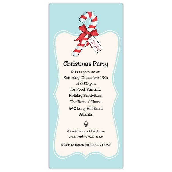 Tagchristmas Kids Party Invitations