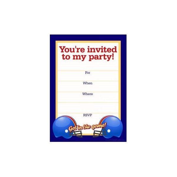 Tagfootball Birthday Invitation Templates Printable Free