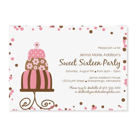 Tagfree Birthday Invitation Templates Pool
