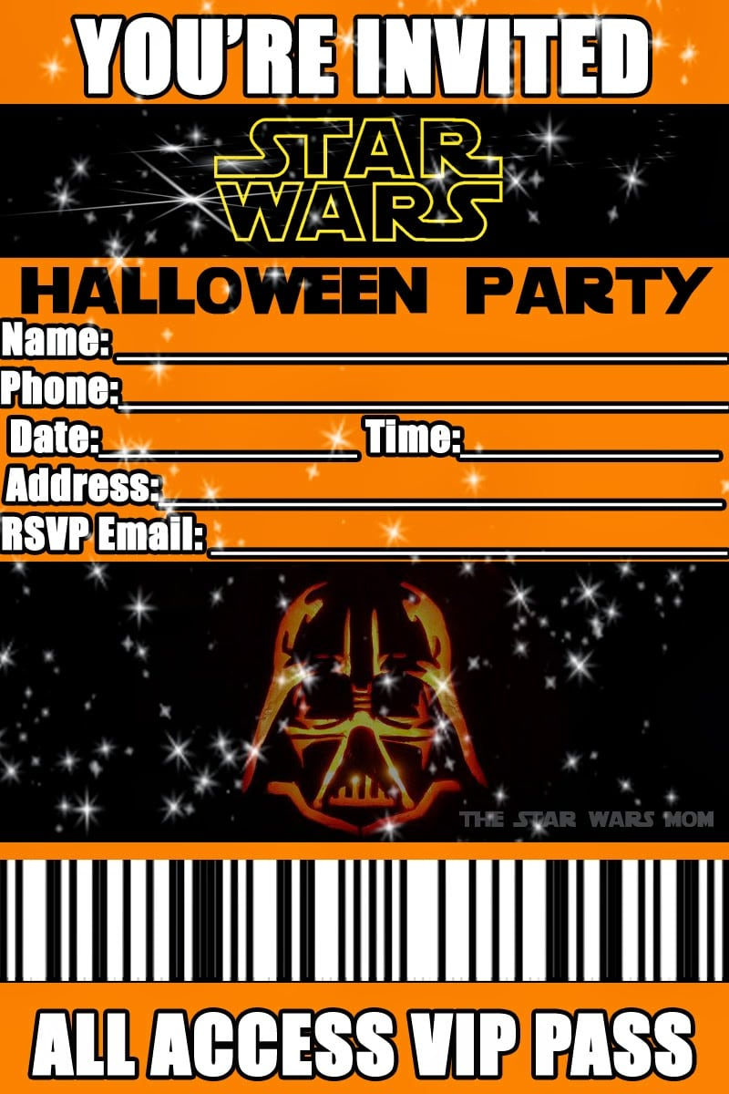 Tagfree Halloween Printable Party Invitations