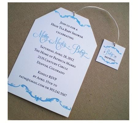 Tagfree High Tea Invitations