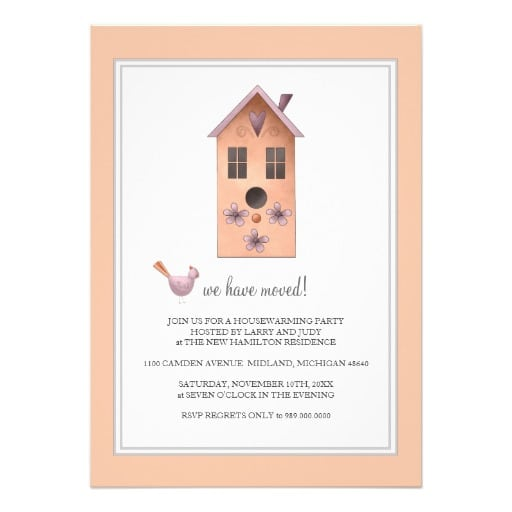 Tagfree House Warming Templates Invites