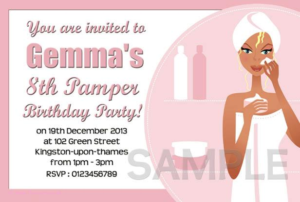 Tagfree Pamper Party Invitation Templates