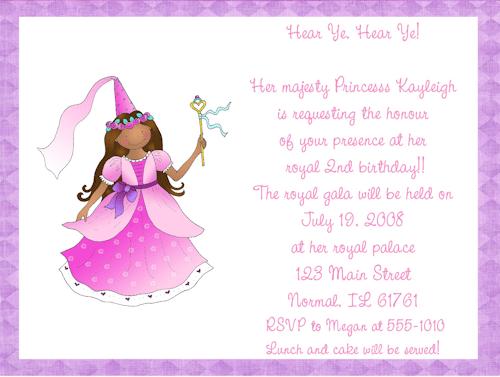 Tagfree Princess Birthday Invitations