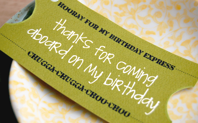 Tagfree Print Birthday Party Ticket Invitation Template