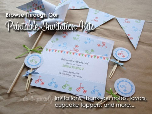 Tagfree Printable 30th Party Invitations