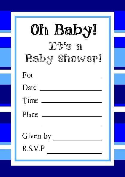 Tagfree Printable Baby Sprinkle Invitations