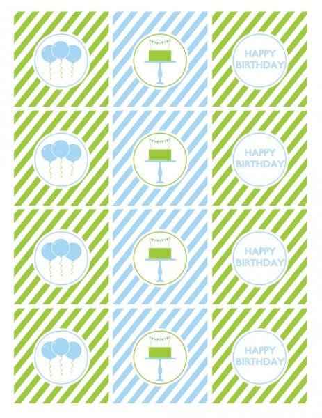 Tagfree Printable Boy 1st Birthday Invitations