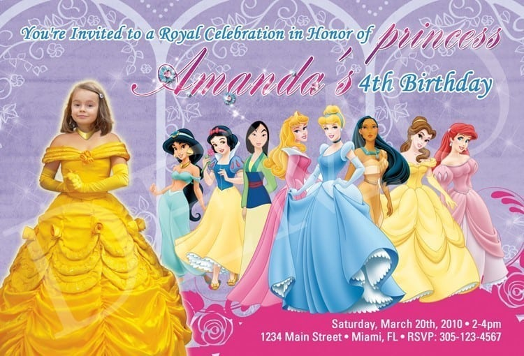 Tagfree Printable Disney Princess Invitations