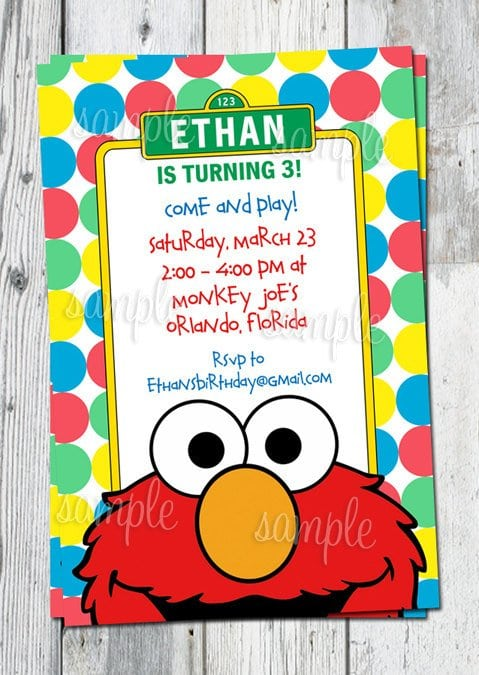 Tagfree Printable Elmo Party Invitations