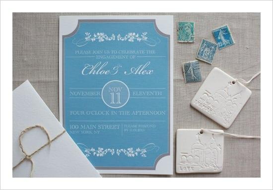 Tagfree Printable Engagement Invitation