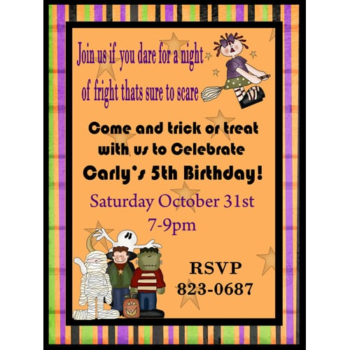 Tagfree Printable Halloween Birthday Invitations For Boys