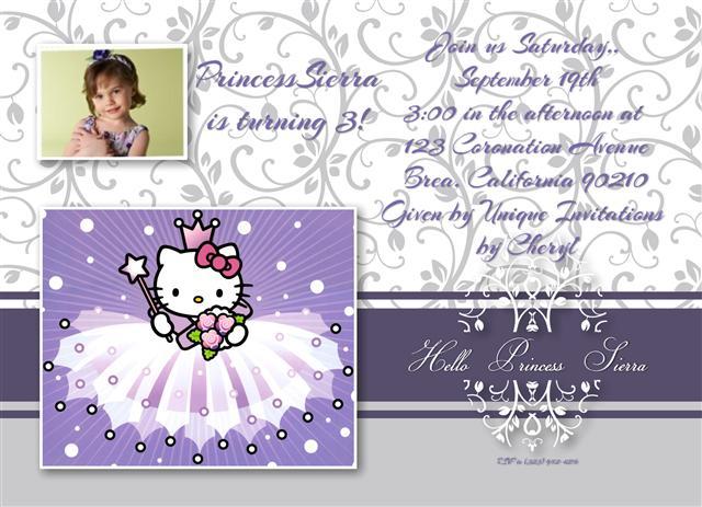 Tagfree Printable Hello Kitty Invite