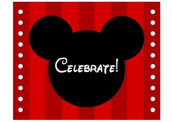 Tagfree Printable Mickey Mouse Birthday Invitation Templates