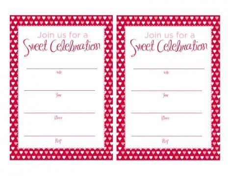 Tagfree Printable Sweet 16 Party Invitations