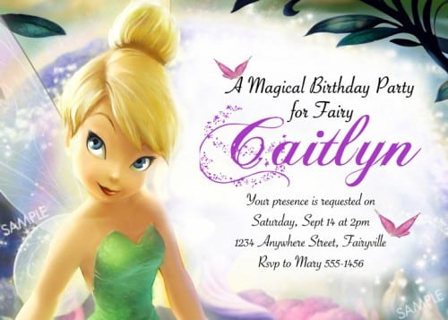 Tagfree Printable Tinkerbell Birthday Party Invitations