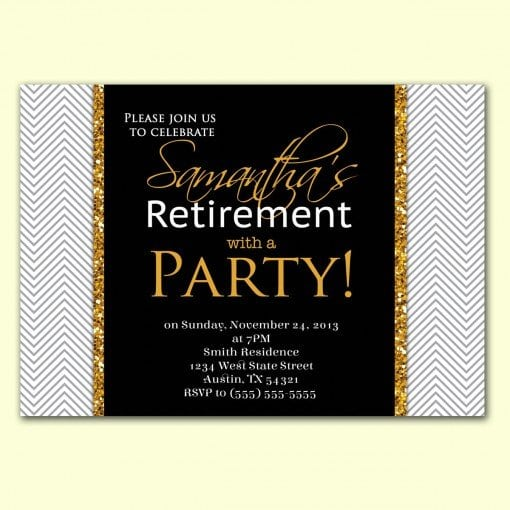 Tagfree Retirement Party Invitations Templates