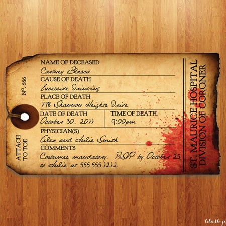 Taghalloween Party Invite Templates