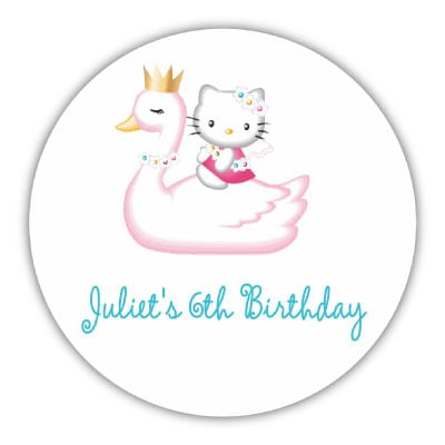Taghello Kitty 7th Birthday Invitation