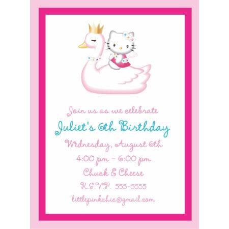 Taghello Kitty Birthday Invitations Printables