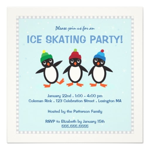 Taginvitations For Skating Party