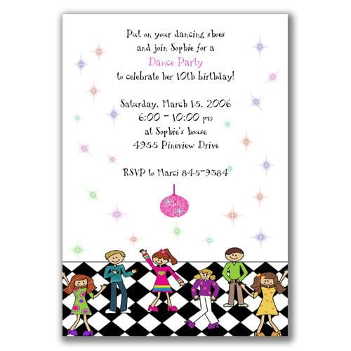 Tagkids Disco Party Invitations Printable