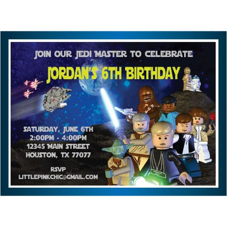 Taglego Star Wars Birthday Invitations