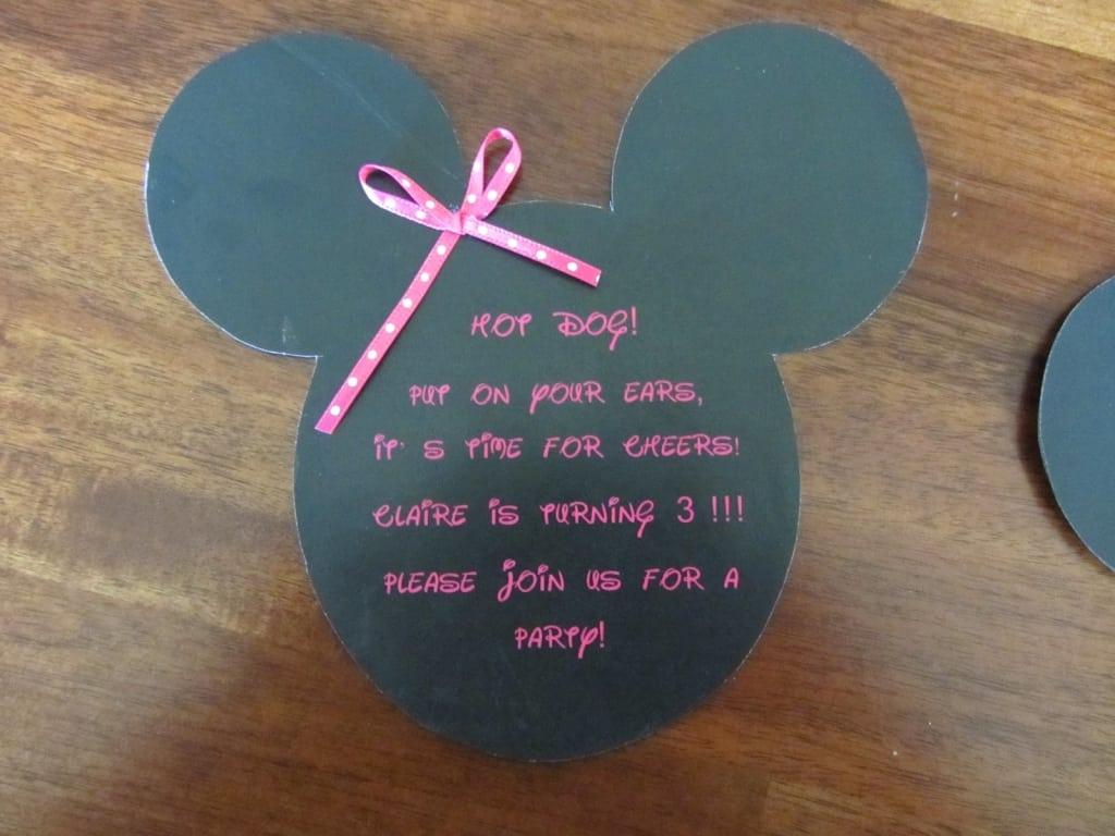 Tagmickeey Mouse Birthday Invitation Template