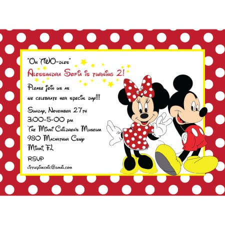 Tagmickey And Minnie Mouse Free Printable Invitations