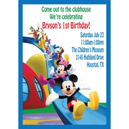 Tagmickey Mouse Clubhouse Birthday Invitations Not Sample