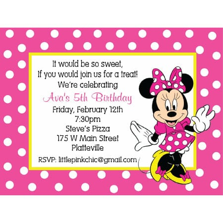 Tagminnie Mouse Invitation Layout