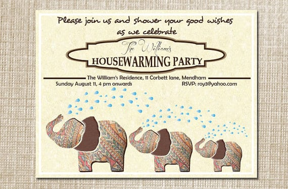 Tagparty Invitations Housewarming