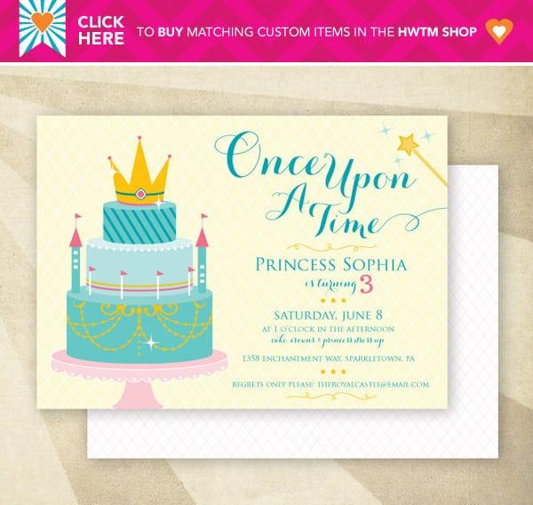 Tagprintable Disney Princess Invitations