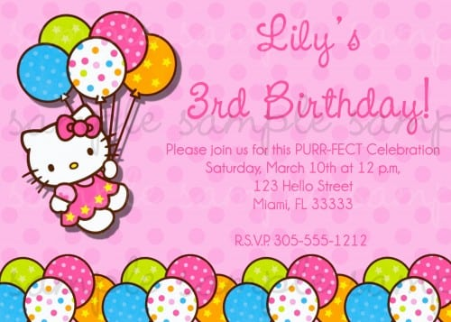 Tagprintable Hellow Kitty Birthday Invite