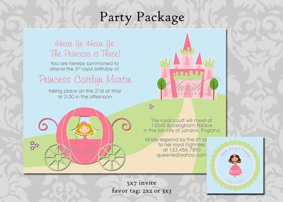 Tagprintable Princess Party Invitations