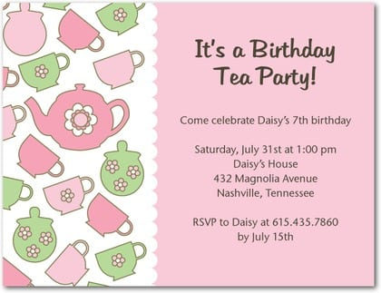 Tagprintable Tea Party Invitation Free