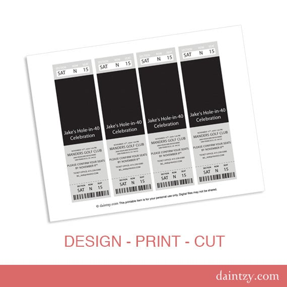 Tagprintable Ticket Invitation Templates